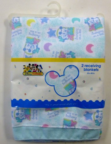 Disney Baby Mickey & Minnie Mouse 2-Piece Receiving Blankets (30 x 30 in)