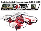 Top Race® Drone with Camera TR-Q510 Quad Cam, 4 Channel Quad Copter with Built in Camera