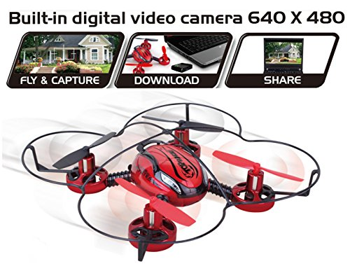 Top Race® Drone with Camera TR-Q510 Quad Cam, 4 Channel Quad Copter