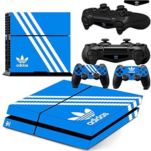 Ambur® PS4 Console Designer Skin for Sony PlayStation 4 System plus Two(2) Decals for: PS4 Dualshock Controller --- Adidas Originals Logo (Nike Steering Wheel compare prices)