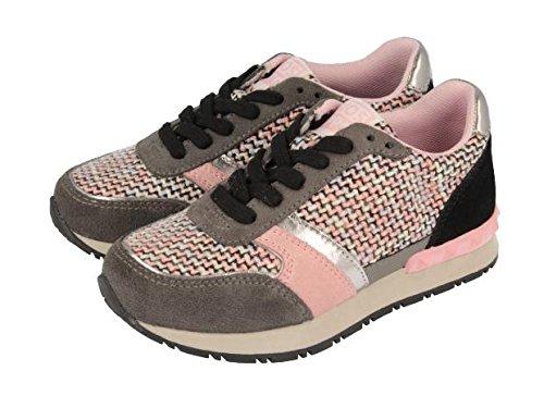 Gioseppo - Crass, Sneakers per bambine e ragazze, multicolore (gris/rosa), 28