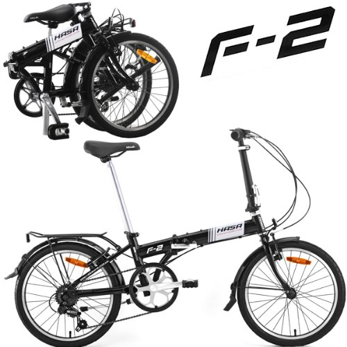 Hasa Folding Foldable Bike Sram 6 Speed Black