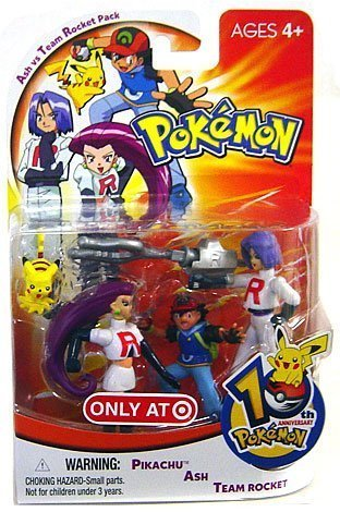 Picture of Hasbro Pokemon Mini Action Figure Set Ash vs Team Rocket Pack with Pikachu, Ash & Team Rocket (B000JWU99Q) (Pokemon Action Figures)