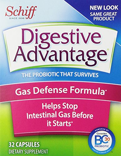 Digestive Advantage Probiotics - Gas Defense Formula Probiotic Capsules, 32 Count (Pack Of 3)