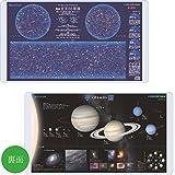 2017年度版デスクマット小学館の図鑑NEO図鑑[星と星座/宇宙]両面クリアYDS-685SU
