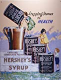 Hershey's Chocolate Syrup Retro Vintage Tin Sign