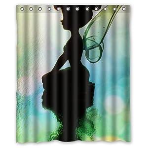 Fabric disney fairies tinkerbell shower curtain ebay - Tinkerbell Curtains Car Interior Design