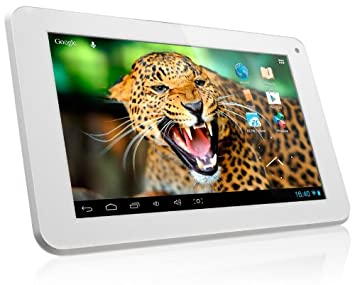 "Yarvik Noble Tablette tactile 7"" (17,78 cm) Cortex A9 1,2 GHz 4 Go Android Jelly Bean 4.1.2 Wi-Fi Blanc"