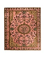 CarpeTrade Alfombra Deluxe Persian Vintage (Marrón/Rosa)