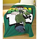 Kids/Childrens Ben 10 Fleece Blanket/Throw over Blanket Bedding