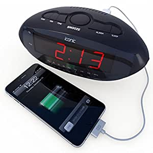 best alarm clock radio with usb charger for smartphones tablets large led digital. Black Bedroom Furniture Sets. Home Design Ideas