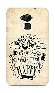 AMEZ do more of what makes you happy Back Cover For Coolpad Note 3