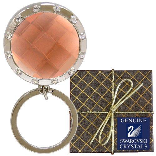 Chatt Amber & Swarovski Pp24 Crystal Led Key Chain In Gift Box