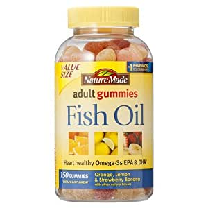 Nature made fish oil adult gummies 150 count for Nature made fish oil gummies