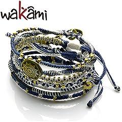 【日本限定】Wakami ワカミ ears 7 strands marin border 7連ブレスレット マリンボーダー wa9865-BL