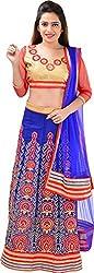 Panchi Women's Blue Net Lehenga (P-Jashan-5086)