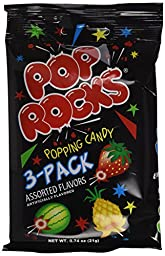Pop Rocks 3 Pack 12 Units Per Box Assorted Flavors,8.88 OZ