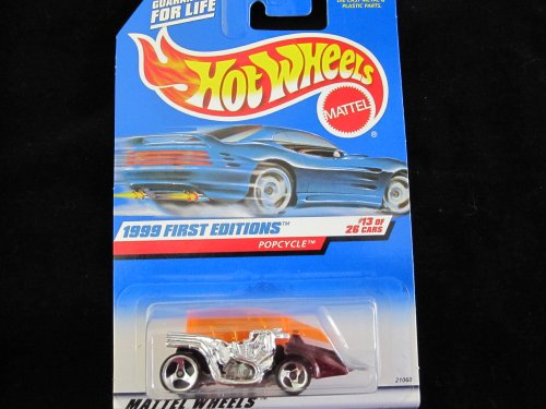 Hot Wheels Metallic Burgandy Popcycle 1999 First Edition with Chrome Engine - 1