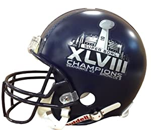 Seattle Seahawks Super Bowl XLVIII Champions Riddell Deluxe Replica Helmet with Final... by Riddell