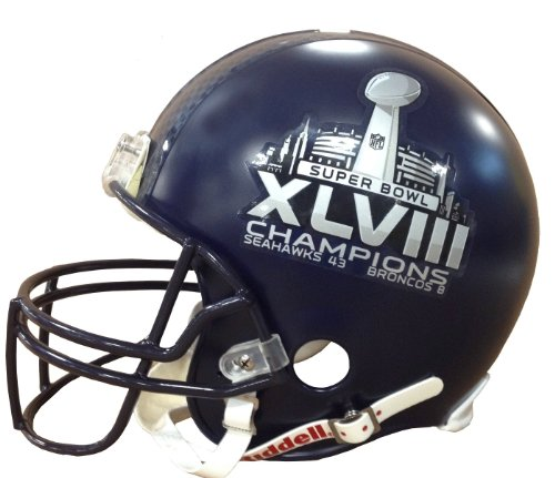Seattle Seahawks Super Bowl XLVIII Champions Riddell Deluxe Replica Helmet with Final Score at Amazon.com