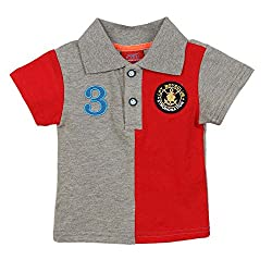Lilliput Baby Boys T-Shirts (8907264087513_Red_0-6 Months)