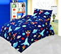 Love2Sleep COT BED DUVET COVER WITH PILLOWCASE- SUPERIOR NATURAL COTTON RICH 120 X 150 CM - BLAST OFF by LOVE2SLEEP