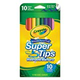 Washable SuperTips Markers, Assorted, 10/Pk, Sold as 10 Each