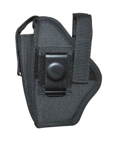 Airsoft / Gun Holster Black Ambidextrous Belt Holster with Pouch Size 18 Fits Glock 19, 23, and Baby Glocks with Rails