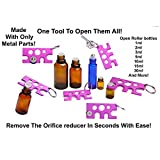 BUNDLE-Metal-Key-Openers-for-Essential-Oils-Bottles-with-Label-Sheets
