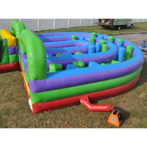 Inflatable Interactive U-Turn Obstacle Course Includes 1.5 Hp Blower and Free Shipping
