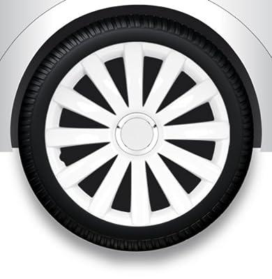 """Radzierblenden Radkappen Radabdeckung 17"""" Zoll #32 WEIß ABS von ZentimeX - Reifen Onlineshop"""