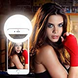 Beauty Selfie Ring Light, 36 White LED Fill Light Camera Photography Enhancing in Dim 3 Brightness Levels for iPhone 6/6s plus, iPad, Samsung Galaxy S7 Edge, Note 5, LG, and More Smart Phones