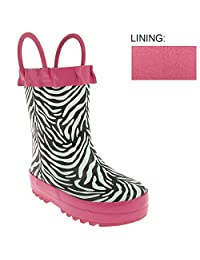 Capelli New York Toddler Girls Zebra Rain Boot