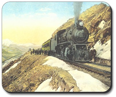 Decorative Mouse Pad Continental Divide Train