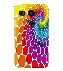 MULTICOLOURED CIRCULAR ELIPTICAL PATTERN 3D Hard Polycarbonate Designer Back Case Cover for LG Google Nexus 5X :: LG Google Nexus 5X (2nd Gen) :: Google Nexus 5X :: Nexus 5X (2015)
