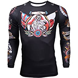 Scramble Tebori Rashguard - Black - Large