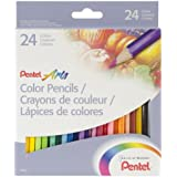 Pentel Arts Color Pencils, Assorted Colors (24 Pack) (CB8-24)