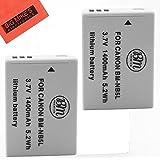 BM Premium 2-Pack of NB-5L Batteries for Canon PowerShot SX230 HS, SX210 HS, SX200 HS, S100, S110 Digital Camera