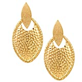 Golden Coloured Danglers Made Up Of Alloy By Shnella.