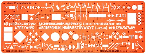 Metric Electrical and Electronic Installation Symbols Drawing Template Stencil - Engineering Drafting Supplies - Layout Plan Schematic Wiring (Coil Building Guide compare prices)