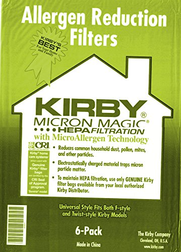 Kirby Part#204808 / 204811 - Genuine Kirby Style F HEPA Filtration Vacuum Bags for Sentria Models - 6/Package, Sentria®, for units built on 2009 and later (Kirby Vacuum Bags For G10d compare prices)