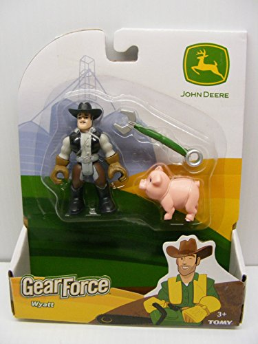 TOMY International John Deere Gear Force Worker Man Named Wyatt with Pig and Tool