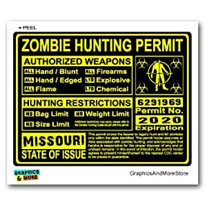 Missouri mo zombie hunting license permit for Mo fishing license