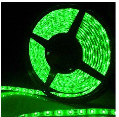 Epartsdom@ 16.4Ft 5M Smd 5050 Waterproof 300Leds Green Led Flash Strip Light ,Led Flexible Ribbon Lighting Strip,12V 60W 60Leds/M
