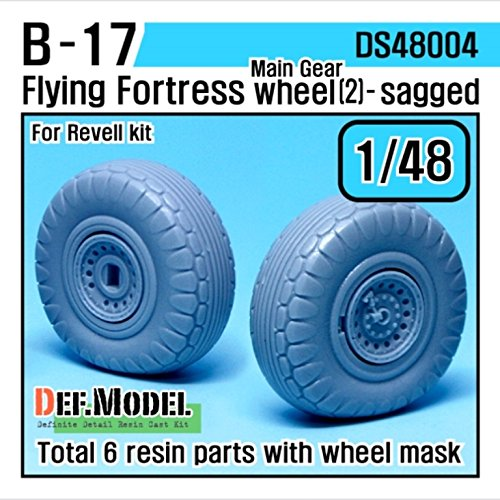 DEF Model 1:48 B-17F/G Flying Fortress Wheel set 2 (for Revell 1/48) #DS48004