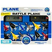 Kole Toy Jet Fighter Planes With Launch Pads Set