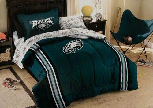 Philadelphia Eagles NFL Twin Comforter, Sheets & Sham (5 Piece Bed In A Bag) at Amazon.com