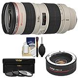 Canon EF 70-200mm f/2.8L USM Zoom Lens with 2X Teleconverter (=70-400mm) + 3 UV/ND8/CPL Filters Kit for EOS 6D, 70D, 7D, 5DS, 5D Mark II III, Rebel T5, T5i, T6i, T6s, SL1