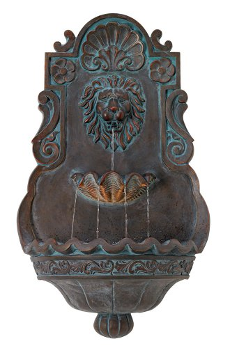 Lion Head Iron and Bronze Indoor Outdoor Fountain
