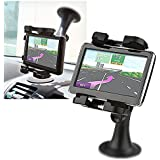 Universal Car Mount Holder for GPS / PDA / Cell phone / Ipod / MP3 Player Mounting on Windshield, Dash, or AC Vent